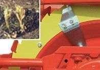 Łopatki do rozstrzępienia ścierniska strzępią je i chronią opony