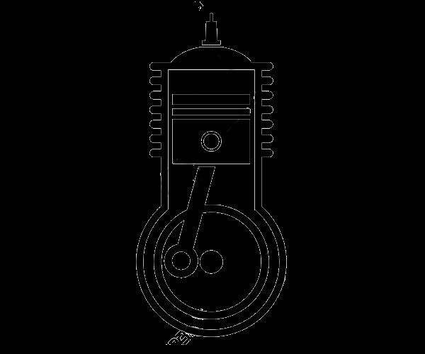 Ikonka przedstawiająca silnik spalinowy w ładowarce Kramer KL 25.5 e