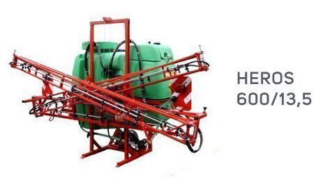 zielony zbiornik czerwona rama opryskiwacz krukowiak Heros 600/13,5 okazja od firmy korbanek
