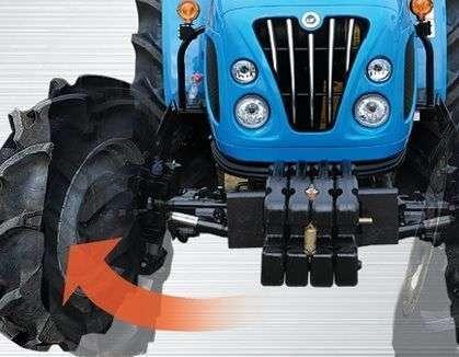 Doskonały skręt ciągników LS typ R60