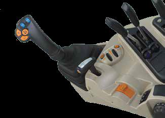 sterowanie ładowaczem czołowym Massey Ferguson mechanicznym joystickiem