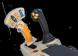 joystick sterujący z multipad w wersji Exclusive sterowanie ładowaczem czołowym Massey Ferguson