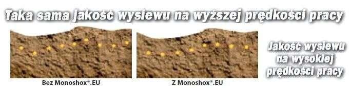 Wysoka prędkość siewu punktowego dzięki amortyzacji Monoshox