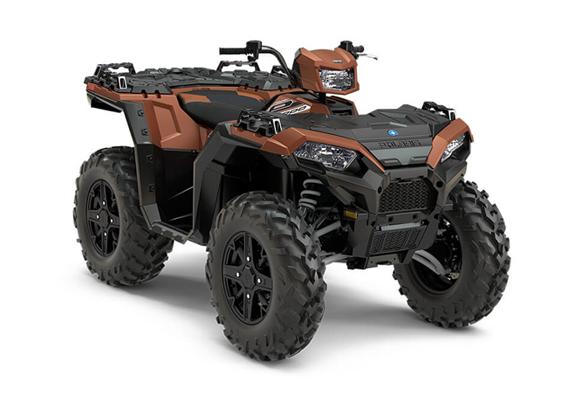 Polaris 1000 XP Sportsman LE kolor miedziany felgi aluminiowe opony Maxxis Vipr kontrola zjazdu ADC EPS wspomaganie kierownicy
