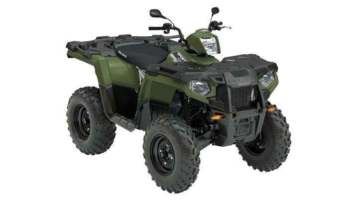 Kolor zielony atv quad felgi stalowe kierownica motocyklowa