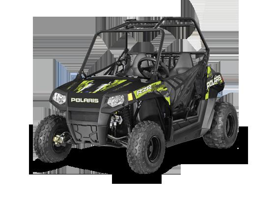 RZR 170 Polaris dla dziecka klatka bezpieczeństwa pasy bezpieczeństwa kolor czarny klasyczna kierownica samochodowa korbanek.pl