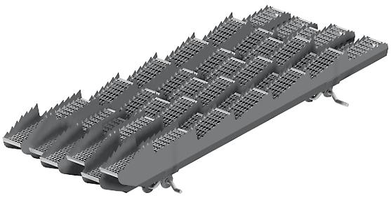 sześć wytrząsaczy duża powierzchnia separacji ziarna w kombajnie Rostselmash RSM 161