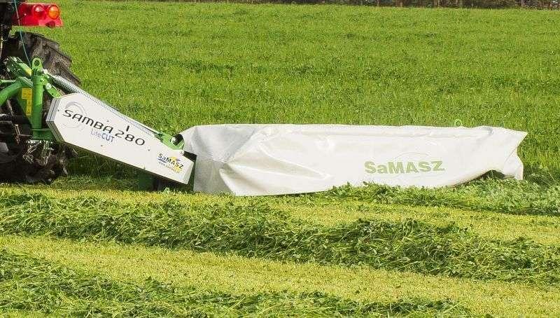 Kosiarki dyskowe tylne, klasy lekkiej - Samba firmy Samasz o szerokościach roboczych od 1,60 m, do 3,20 m przeznaczone są do pracy w mniejszych gospodarstwach.