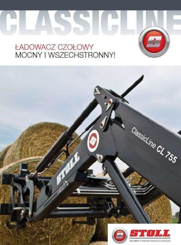 Katalog produktów firmy Stoll z ładowaczami czołowymi do ciągników