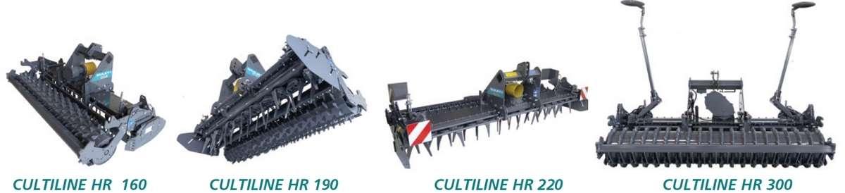 Brony wirnikowe SULKY CULTILINE HR modele zawieszane na ramie sztywnej