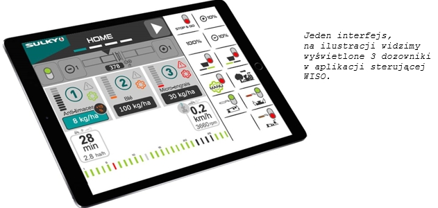 Aplikacja WISO może być obsługiwana przez iPad lub Terminal Uniwersalny