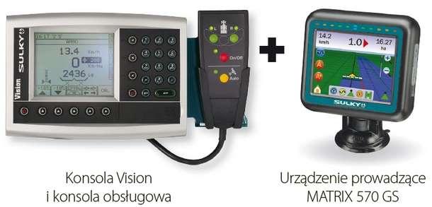 Konsola Sulky Vision-X i nawigacja MATRIX 570 GS
