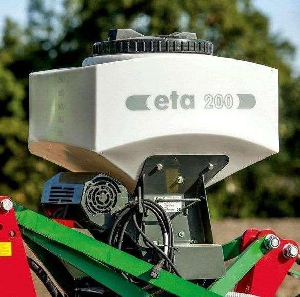 Siewnik do poplonów z napędem elektrycznym dozownika Unia ETA 200