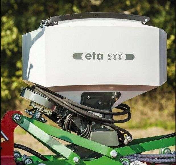 Siewnik do poplonów z dozownikiem napędzanym elektrycznie Unia ETA 500