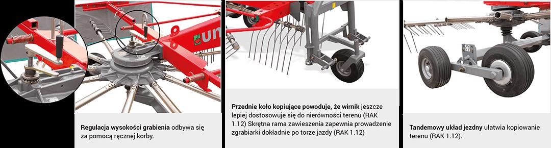 Najistotniesze elementy konstrukcji zgrabiarki RAK