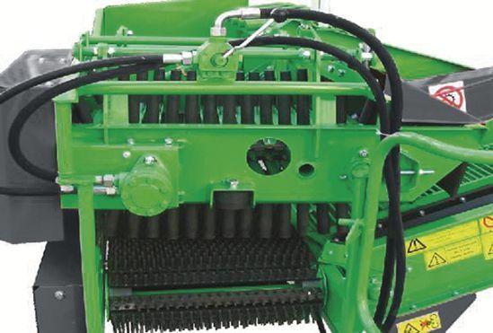 Zdjęcie przedstawiające zgarniacz obiegowy (opcja) w kombajnie do ziemniaków BOLKO, z firmy UNIA.