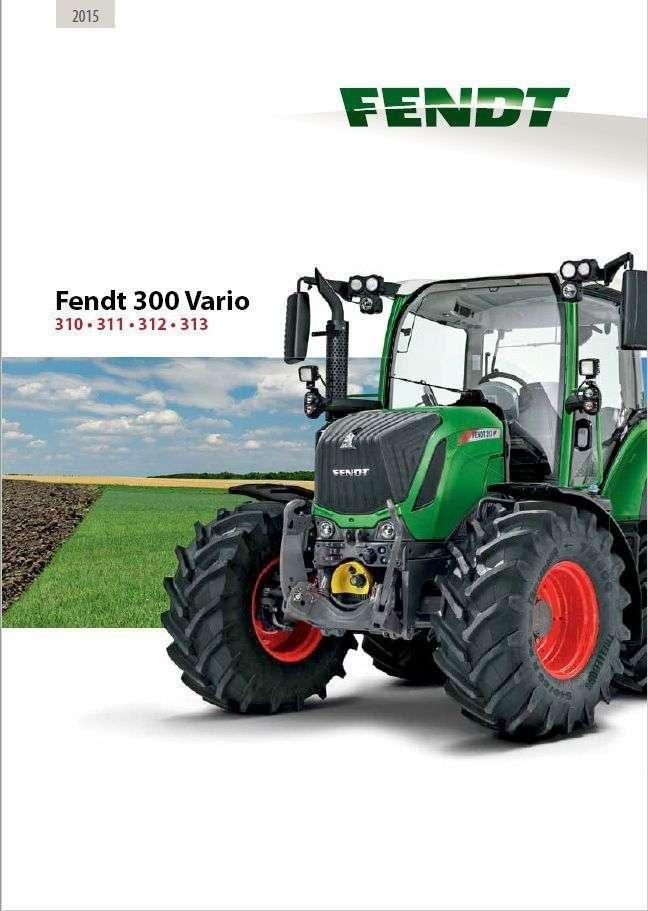 Prospekt ciągnika Fendt 300 Vario S4