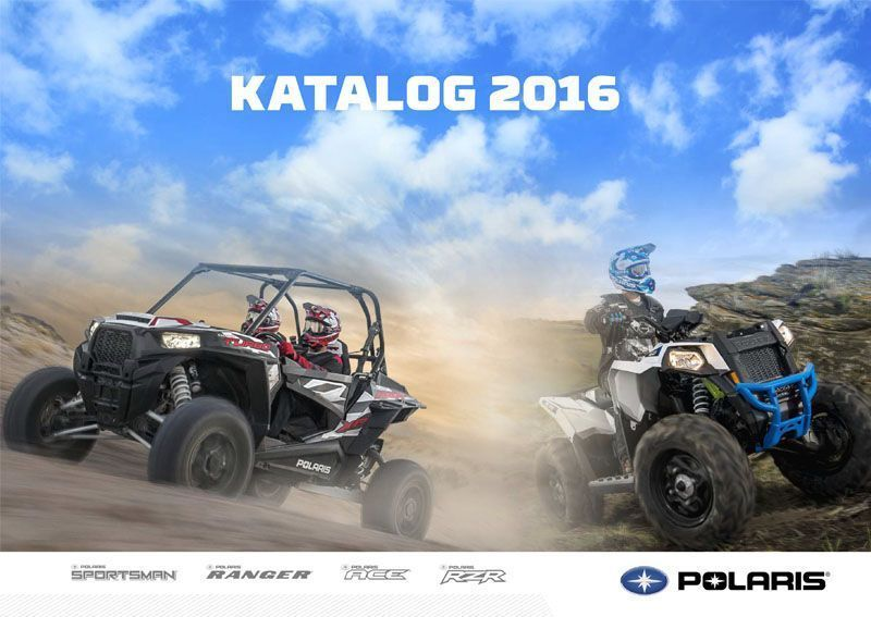 Katalog maszyn na rok 2016 Polaris ATV SxS UTV korbanek