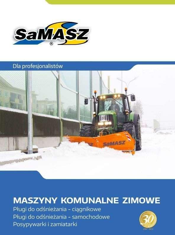 Folder, prospekt pługi do odśnieżania SAMASZ Białystok