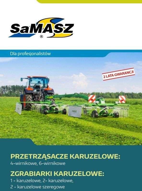 Folder, prospekt przetrząsaczy karuzelowych firmy SAMASZ