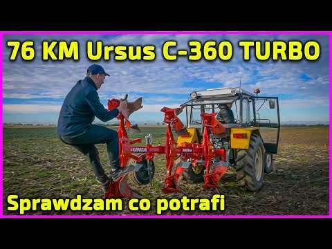Embedded thumbnail for 76 KM ! Ursus C-360 TURBO Rolnik z Hollywood+Jockerfarm+Matheo780 Emocjonujący test na 3 ciągniki