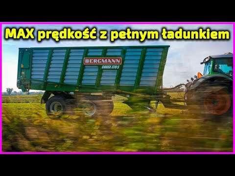 Embedded thumbnail for Duża prędkość jazdy z pełnym załadunkiem trawy przyczepa samozbierająca BERGMANN