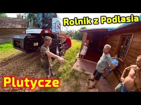 Embedded thumbnail for Piciu w Plutyczach na Podlasiu mijał Gienka i Andrzeja  Rolnicy czekają tam na ten kombajn