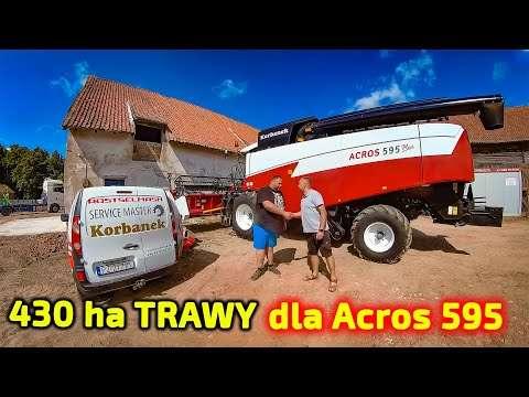 Embedded thumbnail for Trawa nasienna 430 ha do zbioru  Piciu dostarcza kombajn zbożowy Acros 595+ na próbę.