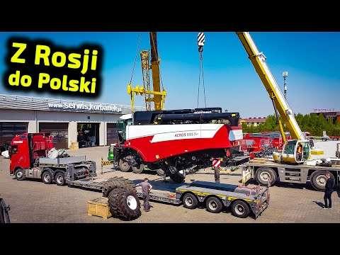 Embedded thumbnail for Kombajn z Rosji w Polsce Po co te dźwigi? i dlaczego dwa?